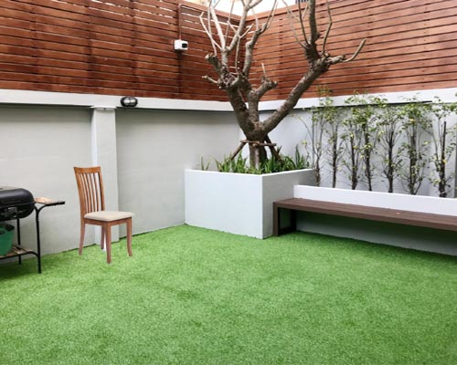Shades of artificial grass