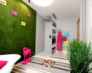 wall design with artificial grass & turf