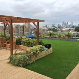 Artificial grass for terrace